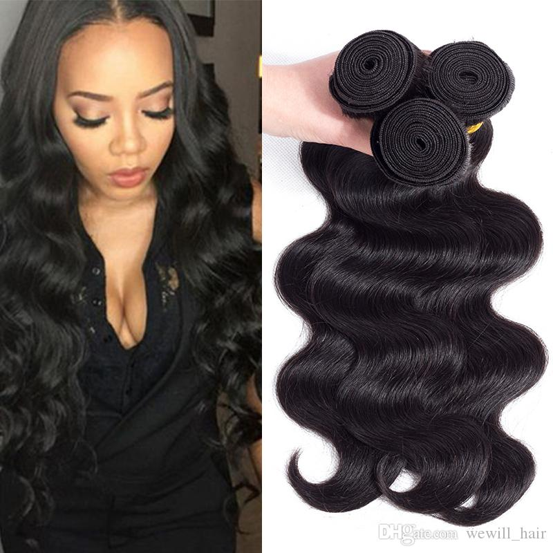 Popular Hairstyle Body Wave Weave Extensions Mink Brazilian Human