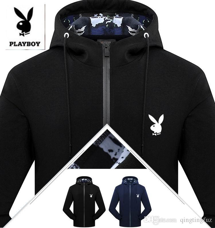 Playboy 2017 New Knitting Fleece Outdoor Sports Windbreaker Men ...