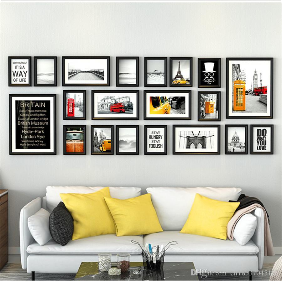 Großhandel 20 Teile / Los Collage Bilderrahmen Reine Schwarz Holz ...