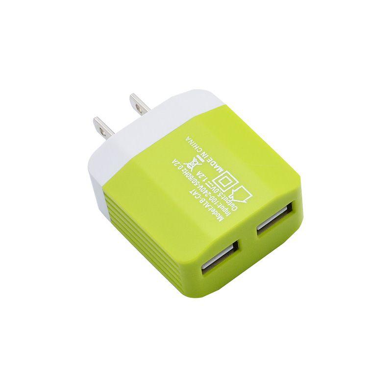 5V 1.2A Dual USB EE. UU. Enchufe de LA UE Cargador de pared Adaptador de corriente de viaje para IPHONE SAMSUNG Android Phone DHL envío gratis CAB224