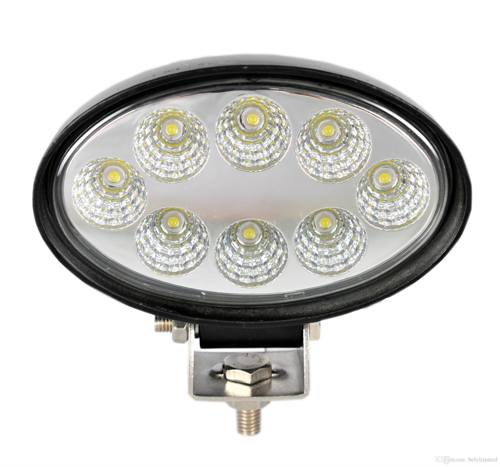 big sale led car light, work led light for fog Driving offroad boat lamp ATV SUV Round/Spot, 24w led work light
