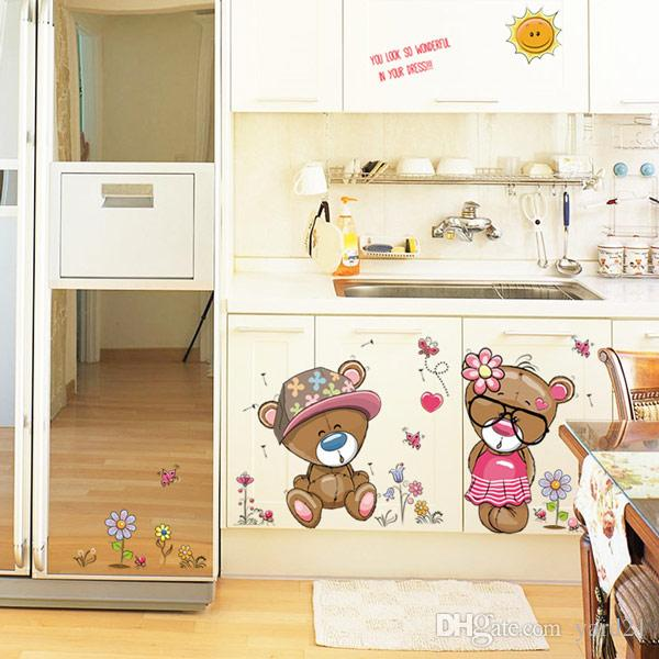 Lovely Bear Wall Sticker Decals for Nursery Boys Girls Bedroom Living Room Classroom Office Store