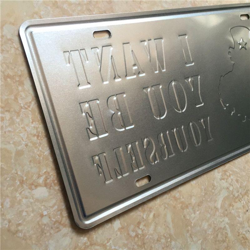 Audrey Hepburn 3D embossed vintage Metal Plaque Car Number Retro Licence Plate Tin Sign Bar Pub Home Cafe Wall Decor Retro Metal Art Poster