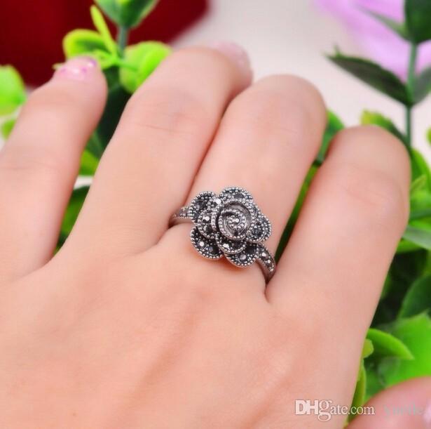 2017 Top Fashion Plated Geometrische Heiße Retro 925 Sterling Ringe Für Frau Einzigartige Thailand Kompatibel Mit Pandora Charm Schmuck