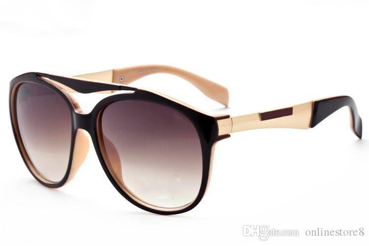Famous Brand Designer Sunglasses Men Women Retro Vintage Sun glasses Big Frame Fashion Glasses Top Quality Eyeglasses