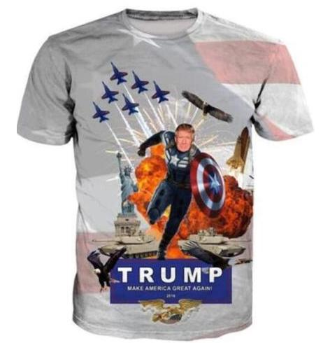 Newest Fashion Womens Mens Donald Trump Captain Short Sleeves 3D Print T  Shirt Summer Casual T Shirt S 5XL123 Cheap Tee Shirts Funny Tees From  Zch9988 d19acbcf4