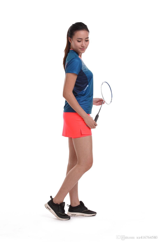 New Sportswear sweat Quick Dry breathable badminton shirt , Women/Men table tennis Ping pong team game running training T Shirts