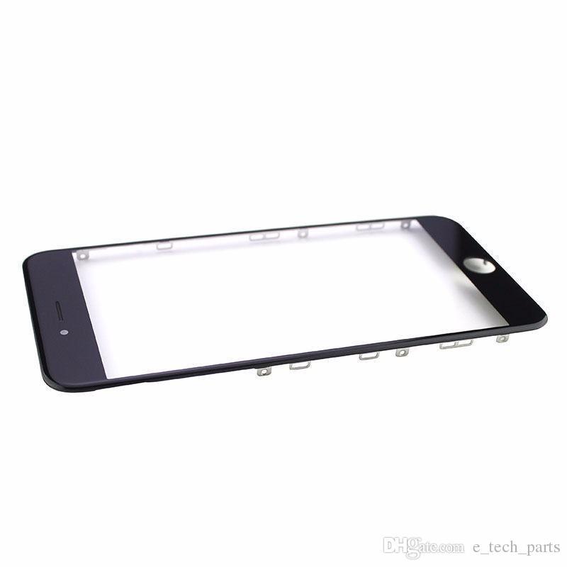 إطار برد غراء أمامي + عدسة زجاجية مع فيلم OCA + airmesh + حلقة كاميرا مُجمَّعة مسبقًا لـ iPhone 5S 6G 6 Puls 6S 6S Puls