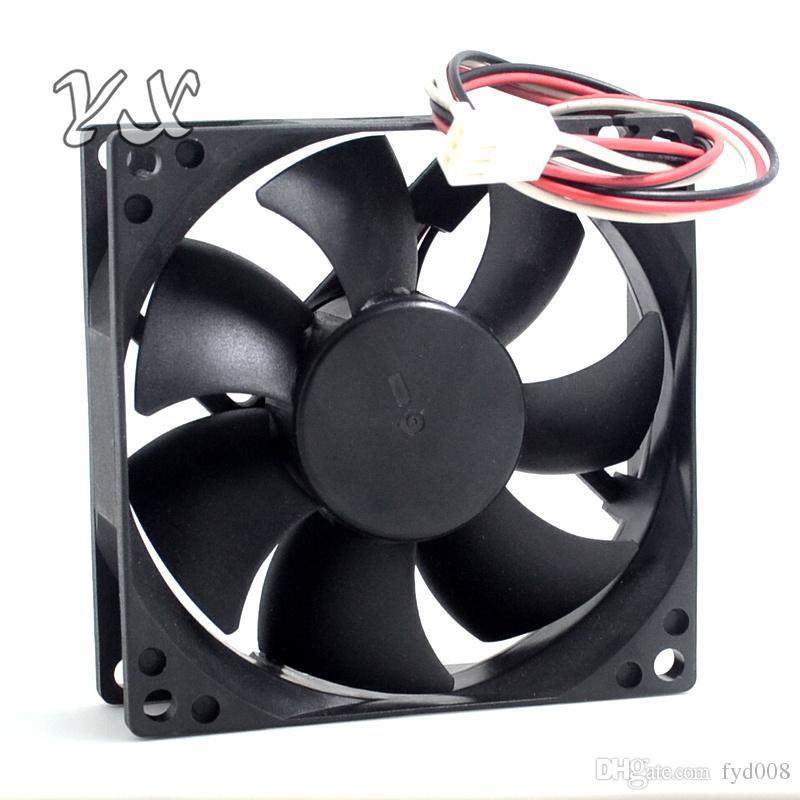 Envío gratis AVC 8025 80 mm 8 cm DS08025T12H DC 12V 0.3A 3 pines caja de la computadora pc ventiladores de refrigeración