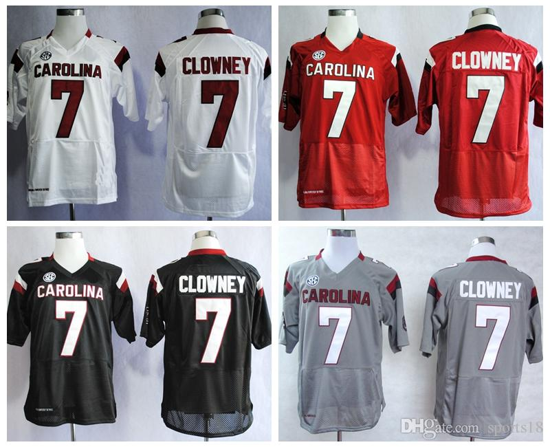 f59eac2c7 ... jersey  online cheap mans south carolina gamecocks college jerseys 7  jadeveon clowney white gray black red stitched