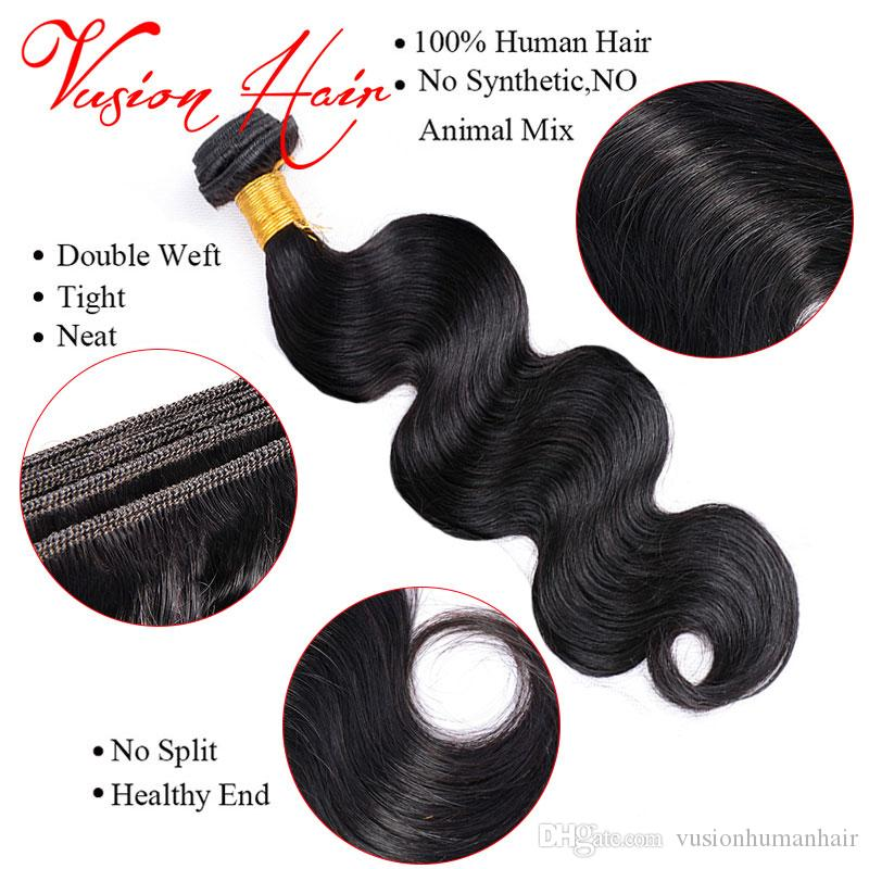Body Wave Wet Wavy Human Hair One Piece/Pack Cheap Human Hair Bundle Natural Black Double Drawn Weaves Cheap Hair Extensions