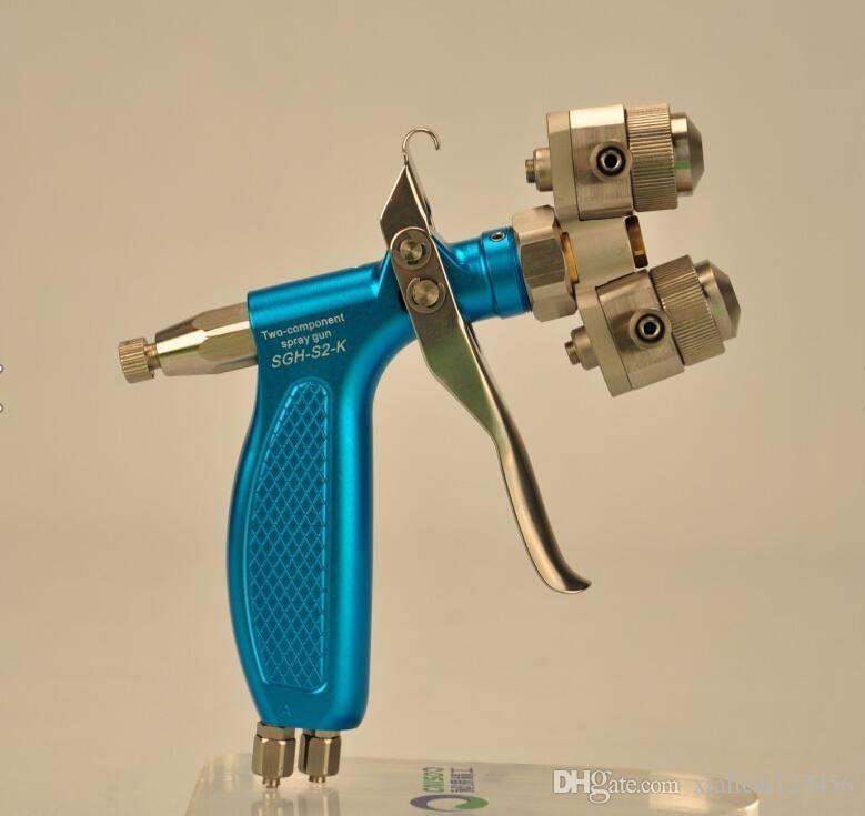 Original Double Head Farbspritzpistole mit rostfreien 316 Edelstahl für Chrom und Nano Malerei Air Tools Spritzpistole