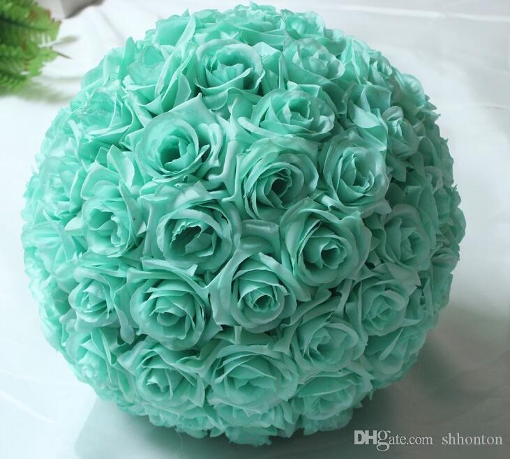Artificial Kissing Ball 12 Inches Wedding silk Pomander flower ball decorate flower artificial flower for wedding garden market decoration
