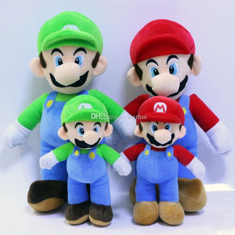 25cm 35cm Super Mario Bros giocattoli peluche bambola MARIO LUIGI peluche ripiene bambola giocattolo farcito peluche festa di Natale migliori regali WX-T99