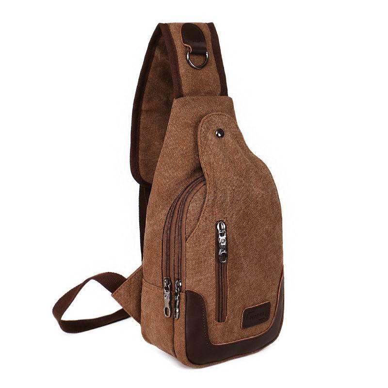 새로운 남성 캔버스 기내에 학생 크로스 바디 남성 가방에 대한 작은 가슴 가방 슬링 팩 언밸런스 배낭 단일 어깨 가방