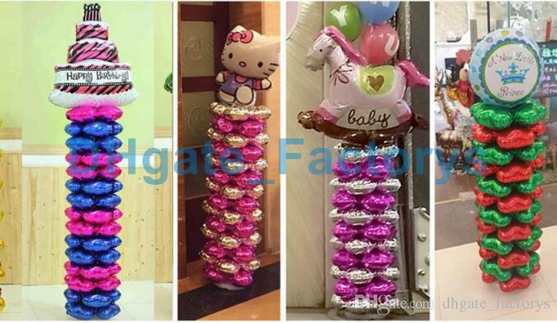 Four Petals Foil Balloons Heart-shaped Clover Balloon Birthday party Wedding Celebration Decoration Arch Aluminum Film Balloon DHFTY-030
