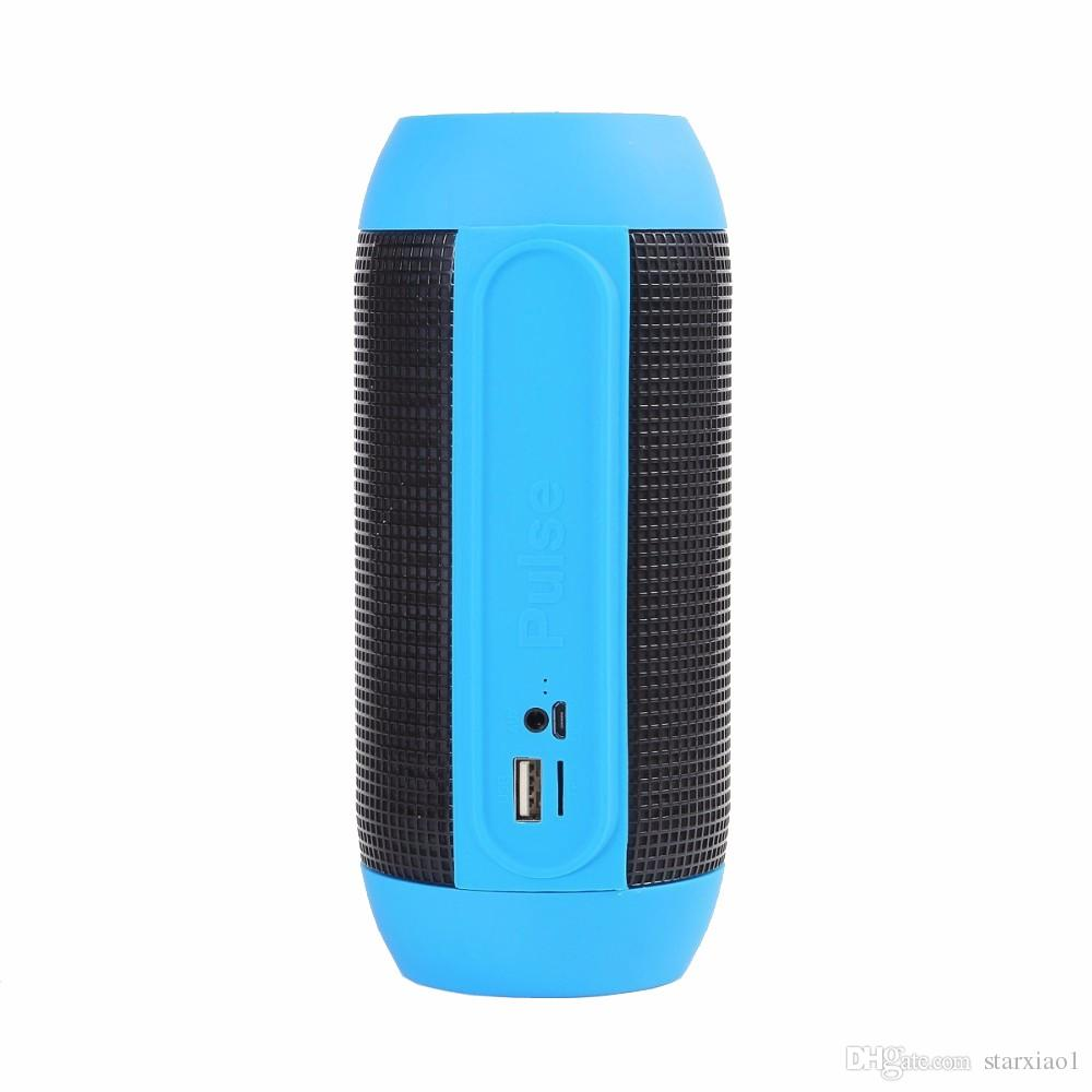 By DHL Free New PULSE Wireless Bluetooth Speaker with LED Lights Mini Portable Speakers Support NFC U-disck TF Card Colorful High quality