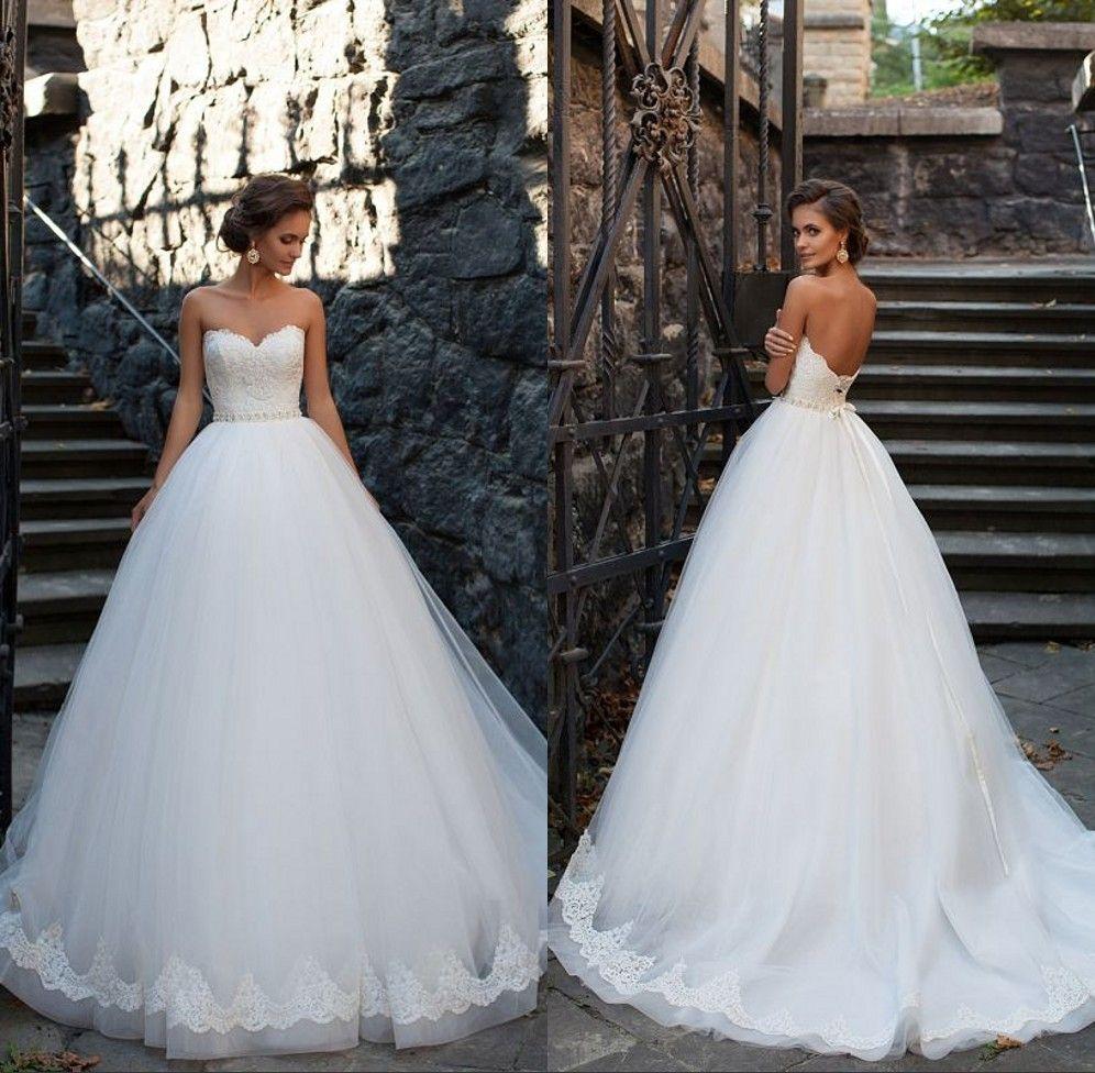 New Vintage Princess Ball Gown Wedding Dresses Beaded: Discount 2017 Princess Puffy Ball Gown Wedding Dresses