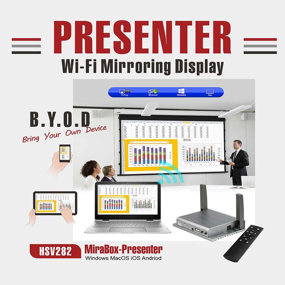 Wireless Presenter Display Mirrorlink Box HDMI VGA Out for IOS Airplay  Android Miracast Mirabox WIFi Mirrorlink Box Presenter