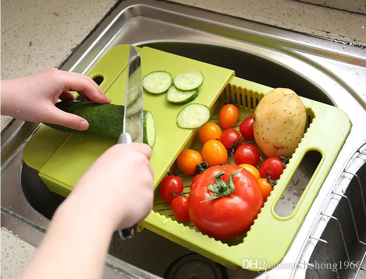 2017 Sink Chopping Board Hommization Handle Design Multi Function  Telescopic Water Filter Tool Kitchen Necessary Many Colors 14dl J R From  Hehong1966, ...