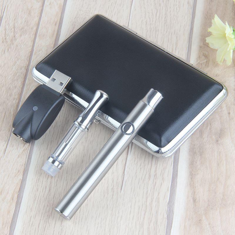 510 Ceramic Coils Metal Tip Cartridge Tank Wee Vaporizer Bud Variable Voltage Battery LO Vape Pen 350mah Preheat CE3 Atomizers Box Kit