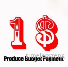 Produktbudget Zahlung / Füllen Sie das Porto / Preisunterschied