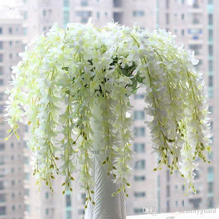 65CM long Artificial Hanging Orchids Plants Fake Silk Flower Vine 5 color For Wedding Backdrop Party Decoration Supplies