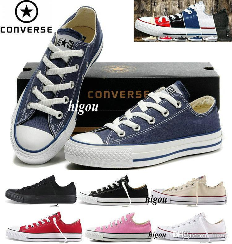f98965ecedc 2017 Converse Chuck Tay Lor All Star 1 I Classic Shoes Mens Women Low Top  Brand Canvas Converses Sneakers Casual Skate Shoes With Box Clogs For Women  Shoe ...