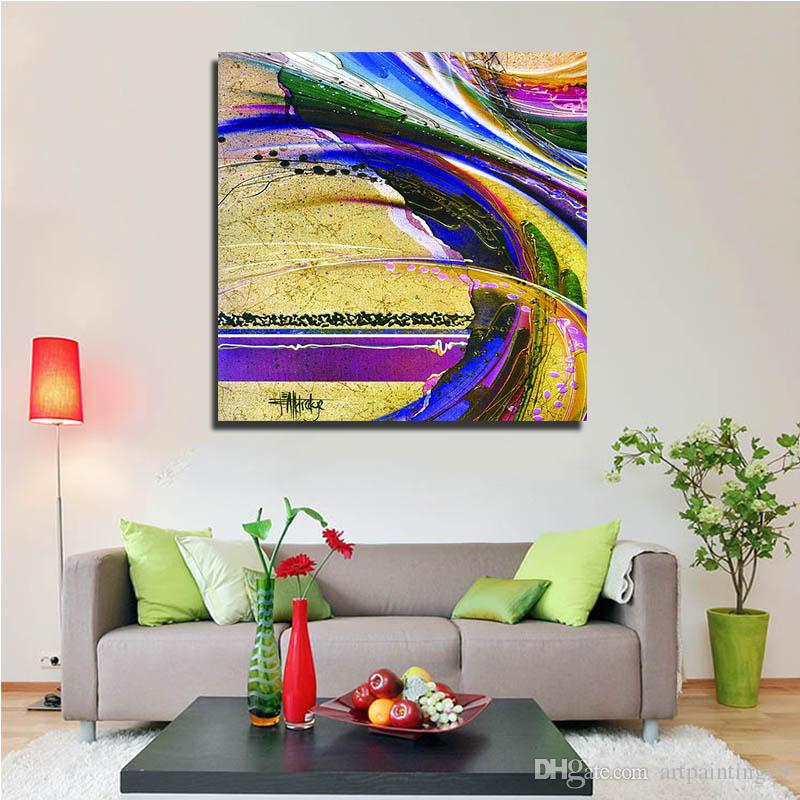 2017 Modern Wall Art Pictures Ink Paintings Abstract Colorful Lines Hanging Arts Best Living Room Decor Gifts From Artpainting19 1378