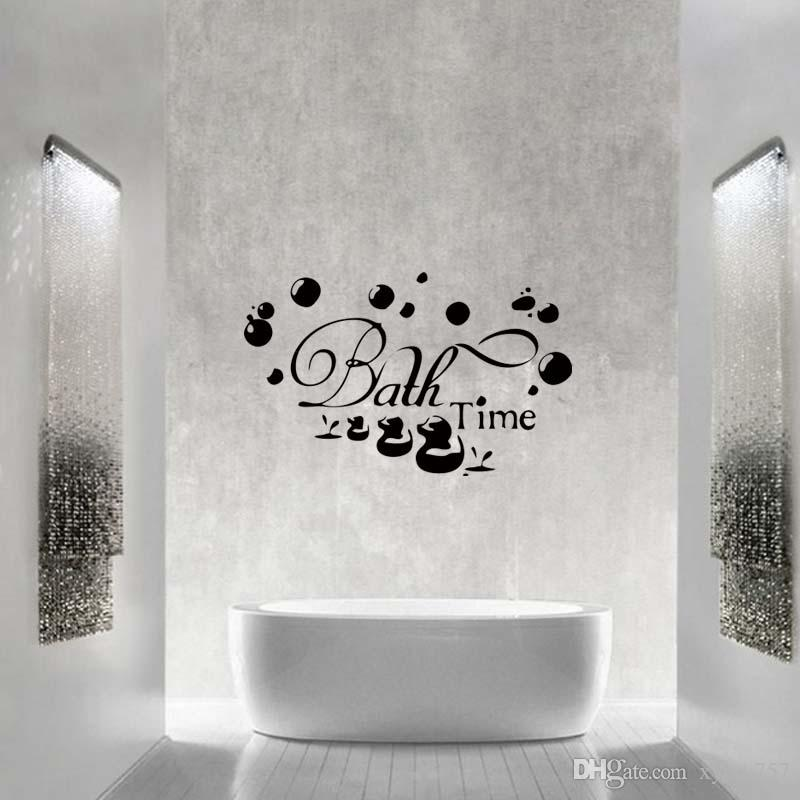 Bath Time Ducks Soak Relax Quote Wall Personality Funny Stickers Art  Bathroom Removable Decals Decorate Graphics Diy Wall Decal Design Wall Decal  Designs ...