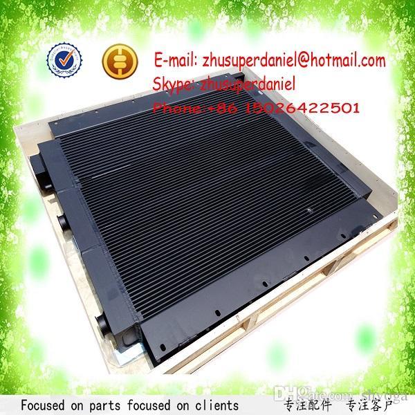 Hotsale black aluminum plate-fin air cooler oil cooler combined radiator  evaporator 22063952 for IR compressor