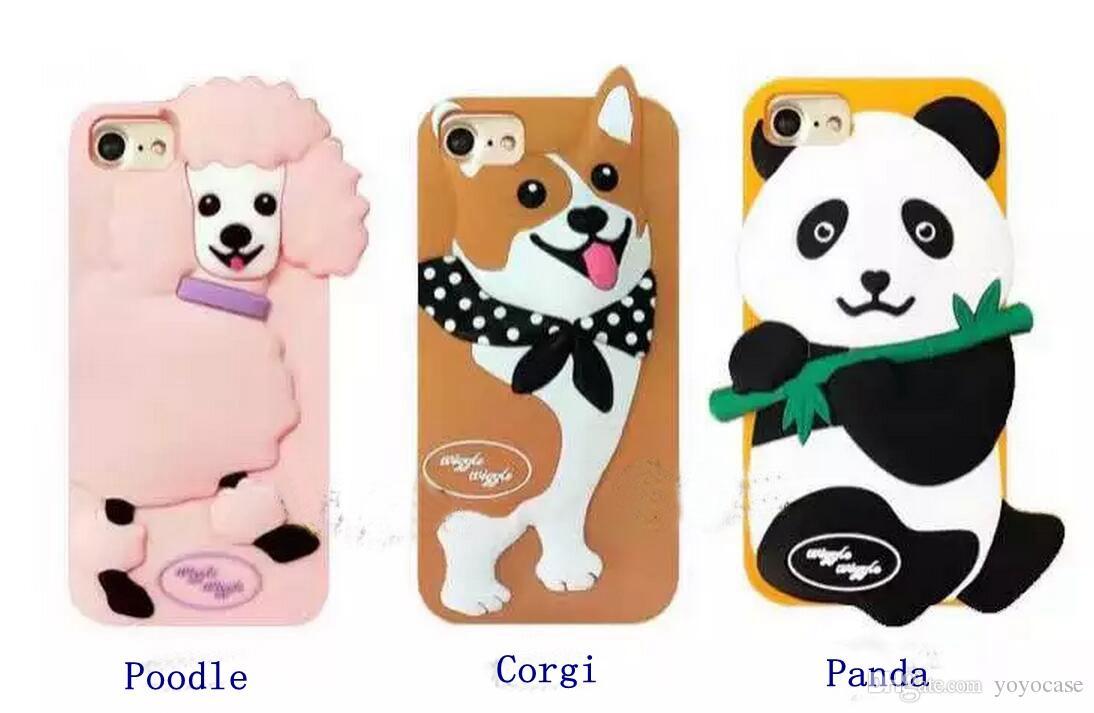 For Iphone 7 3d Cute Lovely Cartoon