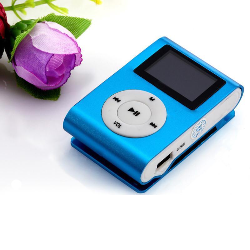 Wholesale- Mini USB Clip MP3 Player LCD Screen Support 32GB Micro SD TF Card