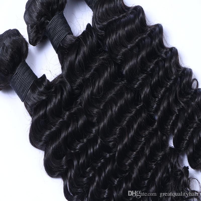 Vendita al dettaglio L'estrema profondità maschile indiana brasiliana peruviana profonda dell'onda 8-30 centimetri di trama dei capelli umani può essere tinto di ombre capelli