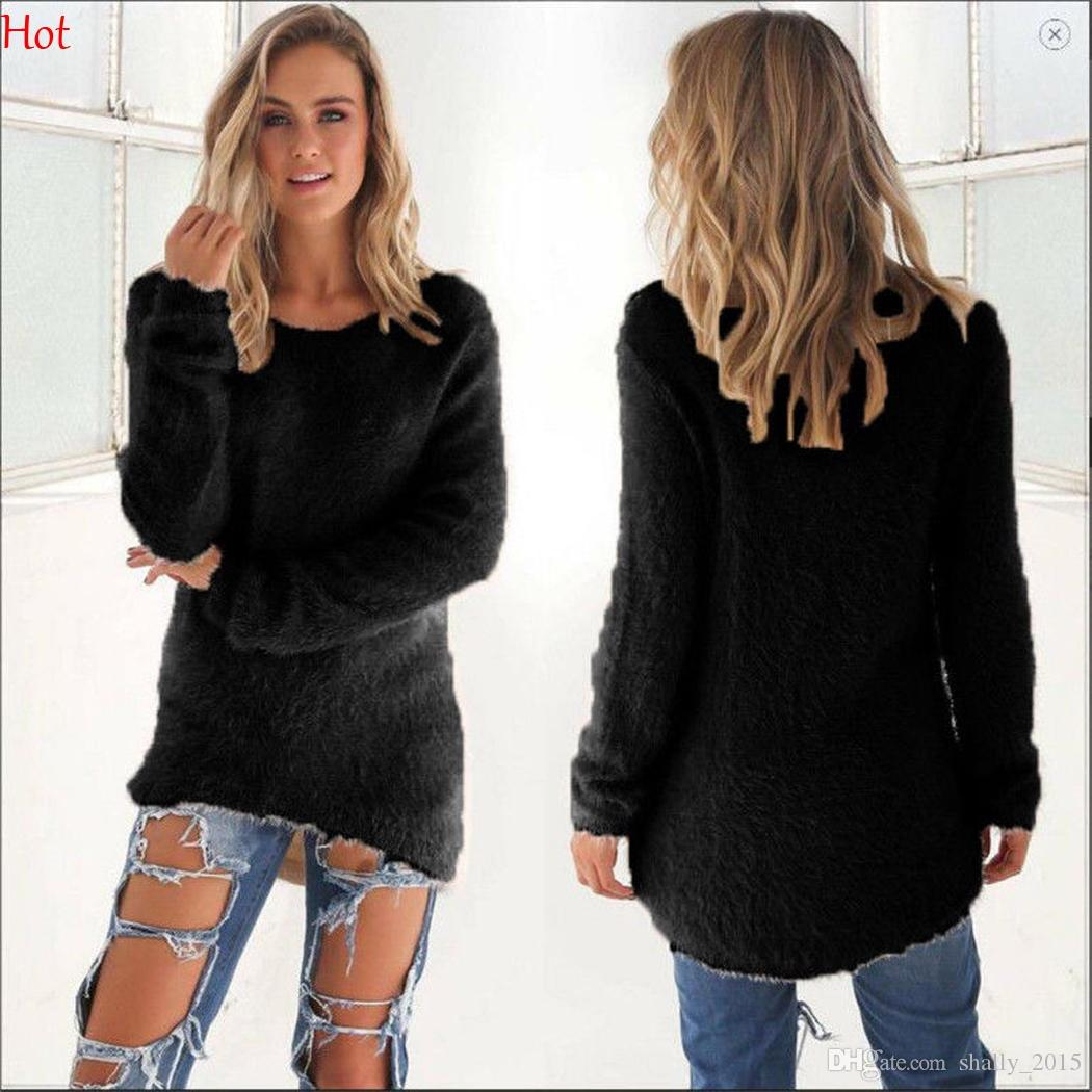 133c183b92f New Fashion Women Clothing Winter Autumn Sweater Long Sleeve Knitted ...