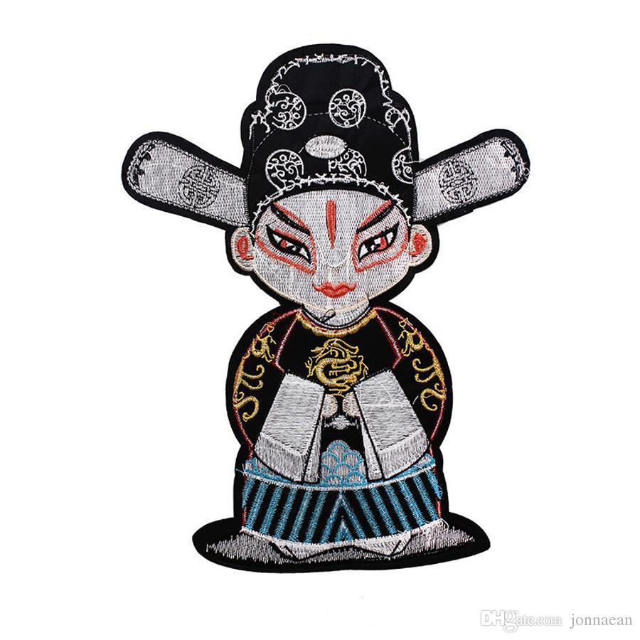 Stickerei-Emblem-Abzeichen-Wappen der chinesischen Art nähen Eisen auf Drama-Charakteren nähen auf Kleidung Jacke