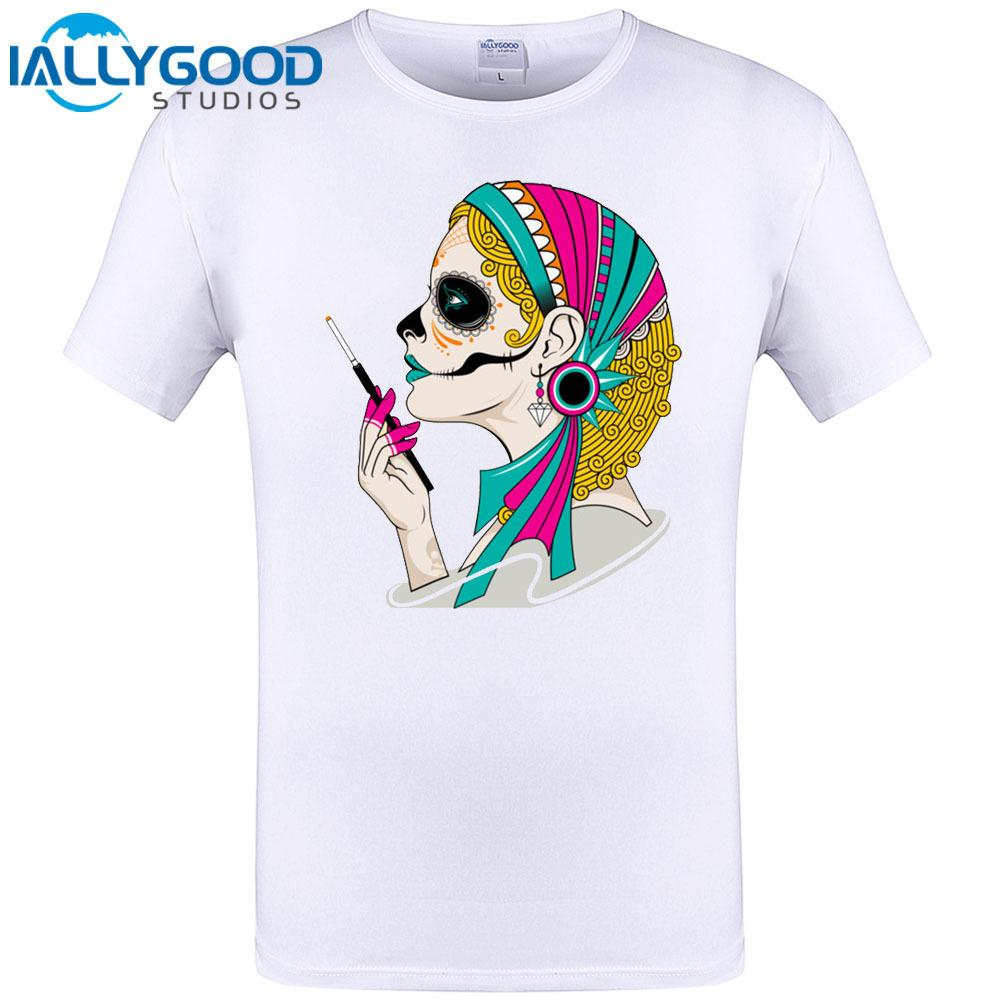 3ed9826d4eb Smoking Girl Cool Design Mens Summer T Shirt Funny Print Short Sleeve Tops  Hipster Hip Hop Tee Shirt Brand New Clothing 6XL Best Site For T Shirts  Funny T . ...