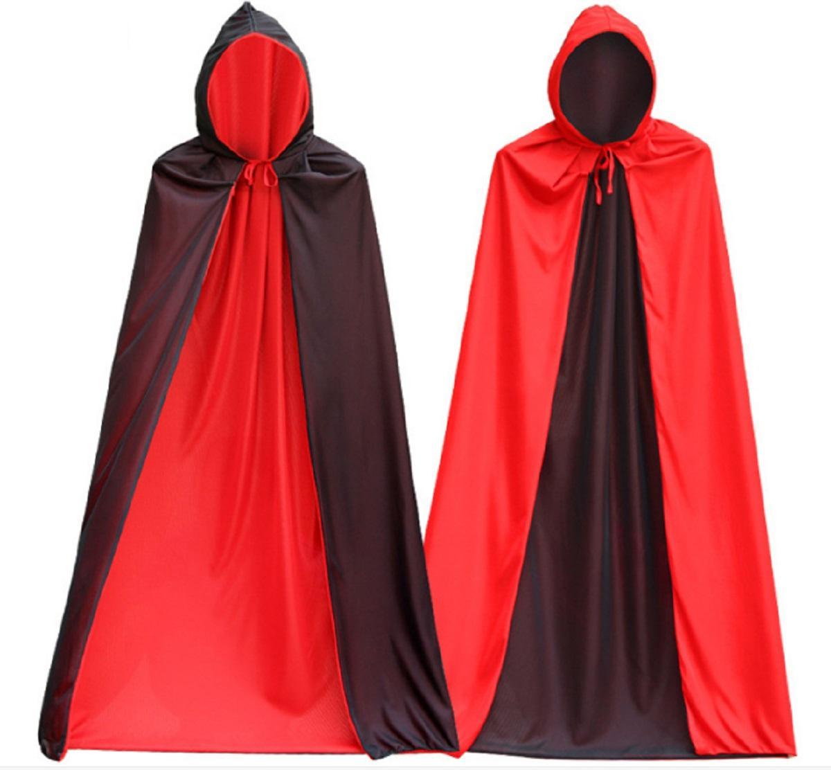 compre fato de vampiro muito legal masculino capa preta com boné