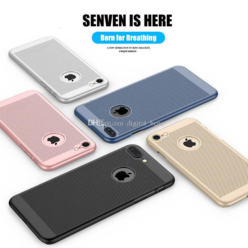 For Iphone X Xr Xs Max Case Breathable Heat dissipation Slim Phone Protector PC Colorful Scrub Smooth Touch Phone Cover For Samsung S8