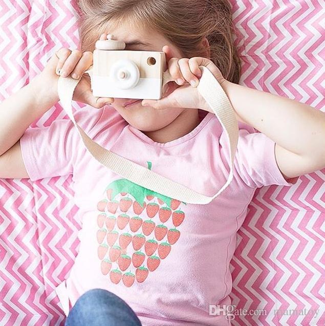 Câmera de madeira Photo Frame Enfeites De Brinquedos INS Estilo Europeu Popular Criativo Decoração Foto Adereços Decoração Do Berçário