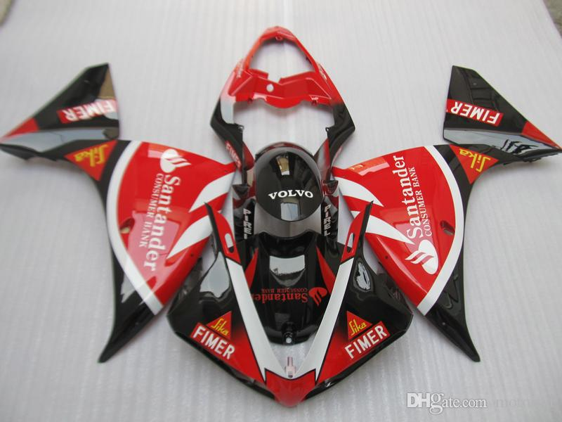Injection molding plastic fairing kit for Yamaha YZF R1 09 10 11-14 red black fairings set YZF R1 2009-2014 OY28