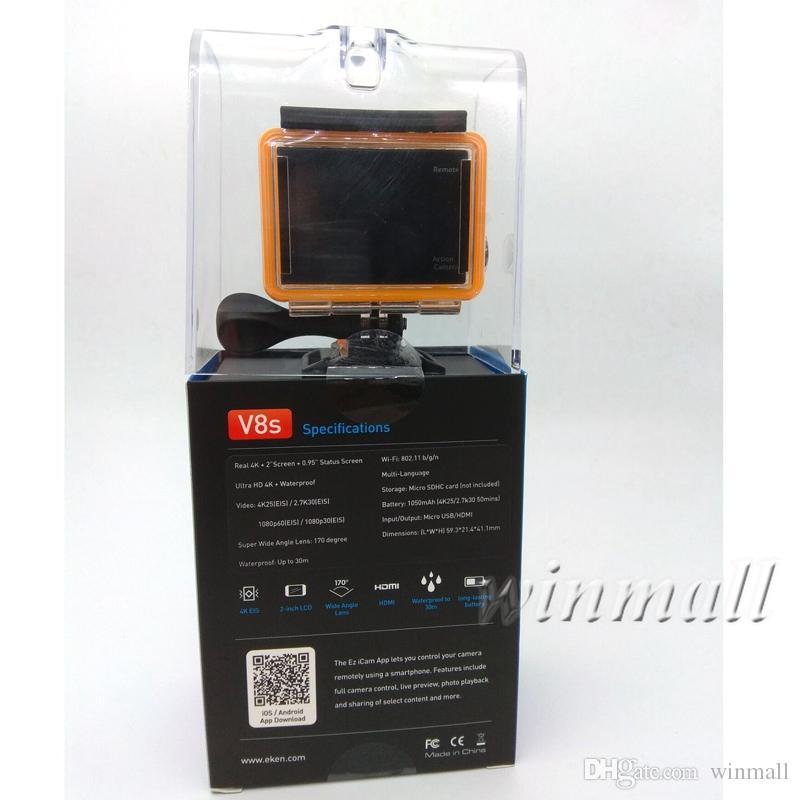 Original EKEN V8s Real 4K Ultra-HD Video Action Camera Aluminum Alloy Body Electronic Image Stabilization 2.4G Remote Control 30M Waterproof