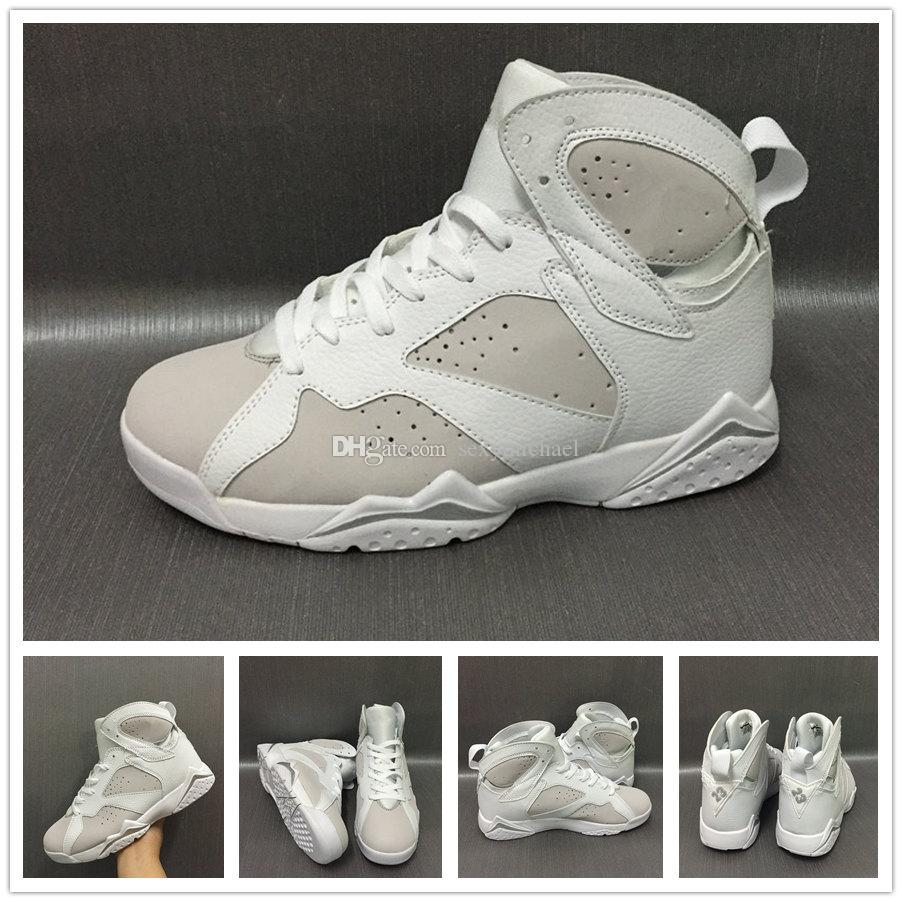 653067bec69 7s Classic 7 Pure Money Basketball Shoes Men Sneakers All White High Top  Sports Shoes Michael Sports US8 13 Shoes Kids Mens Basketball Shoes From ...