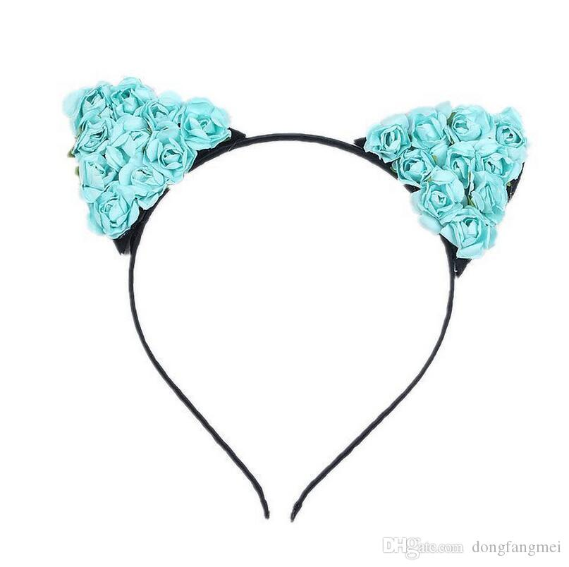 Best gift New parent-child headdress animation cosplay cat ears hair hoop lady little devil TG029 a