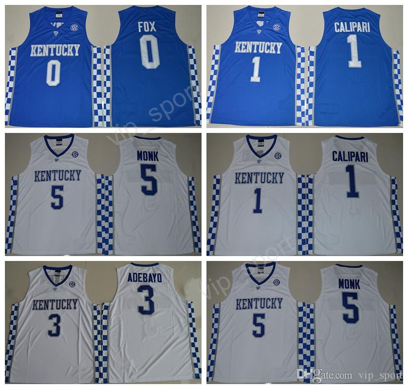60584071271 ... kentucky wildcats college 0 de aaron fox jersey men 3 edrice adebayo 1  john calipari 5