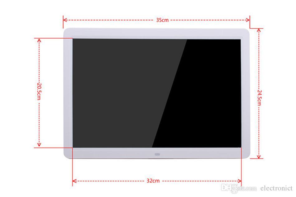 LED Digitaler Bilderrahmen 1280 * 800 15 Zoll Bilderrahmen mit Wecker MP3 MP4 Movie Player Fernbedienung