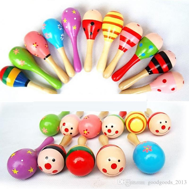 Hot Sale Baby Wooden Toy Rattle Baby cute Rattle toys Orff musical instruments Educational Toys B1069