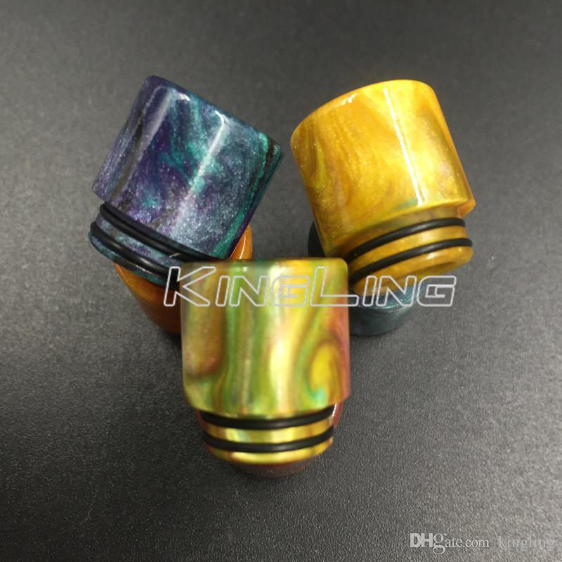 Punta de goteo de la resina de epoxy Extremidades de goteo coloridas del diámetro interior 810 Boquilla para el tanque grande del bebé Tfv12 de TFV8 Tfv8 con el paquete al por menor
