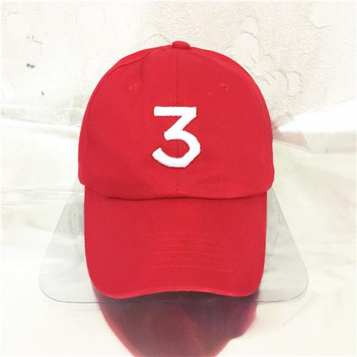 new popular singer chance the rapper cap black pink white red letter embroidery baseball hip hop caps hat blue boston sox