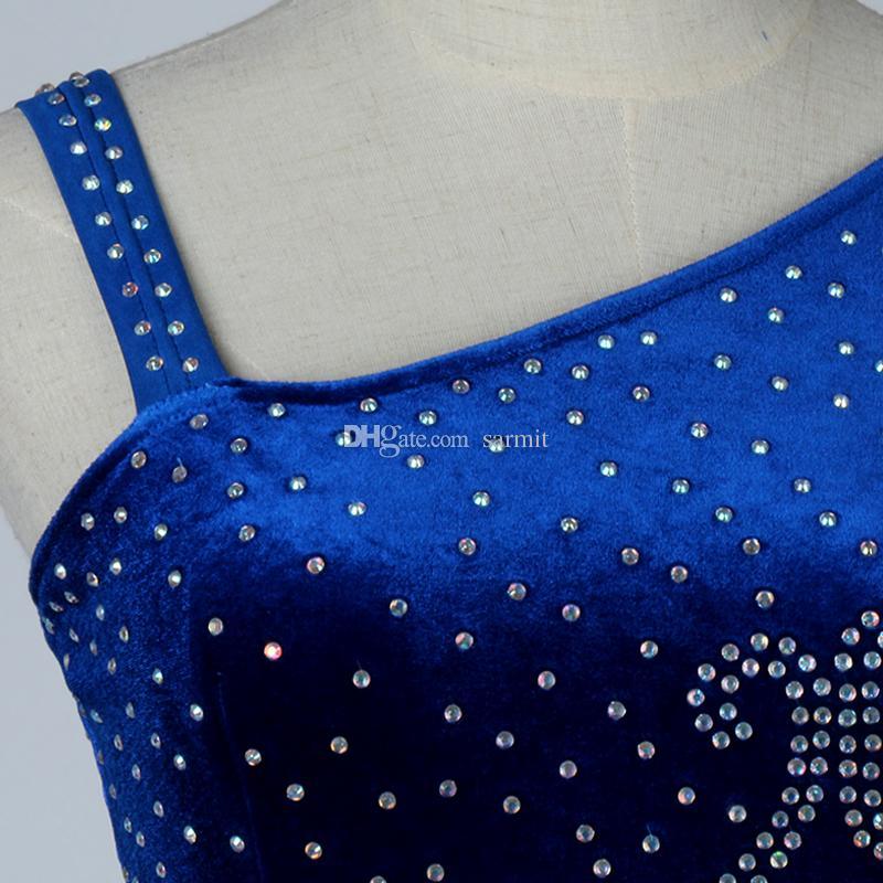 Vestidos de baile de salón Vestidos de salón Vestimenta de competencia Vestidos de baile de tango Trajes Terciopelo D0178 Piedras Strass Big Sheer